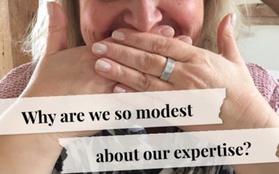 Why are we so modest about our expertise?